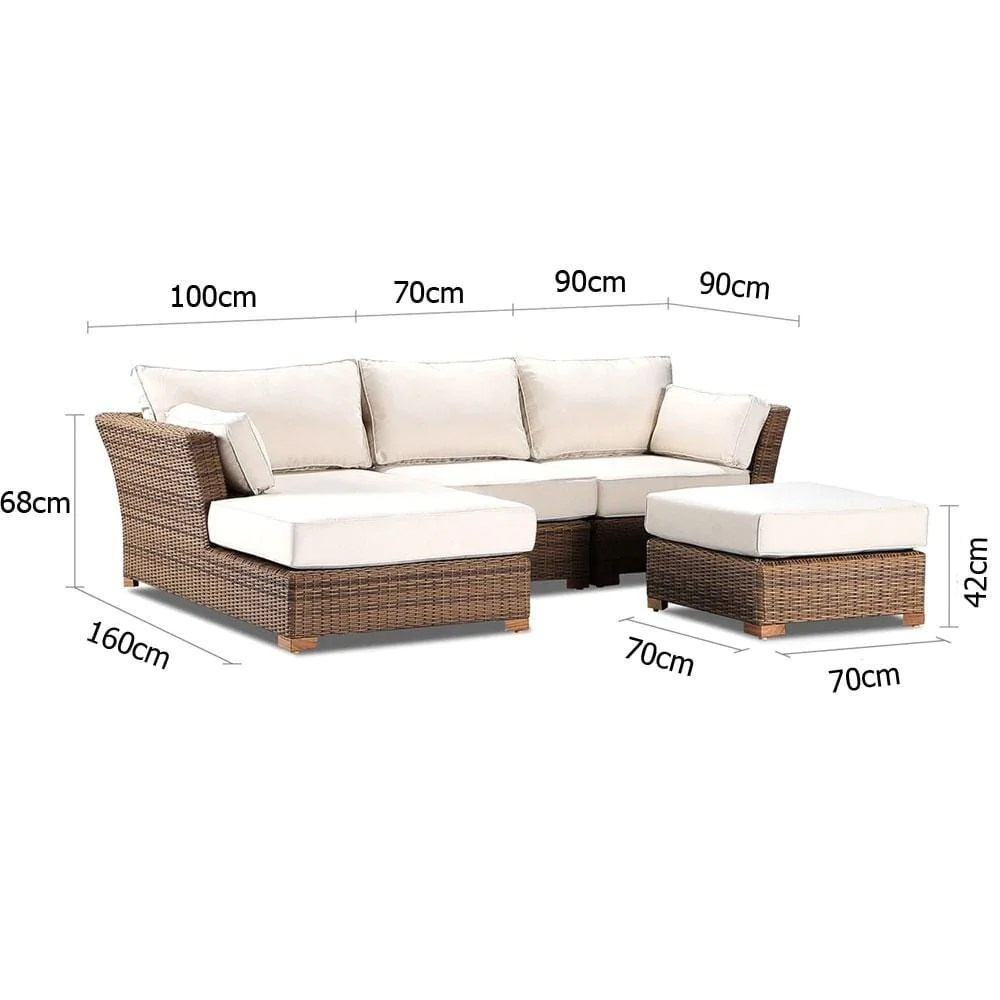 Coco Lounge Package A Modular Outdoor Chaise Lounge United House Furniture