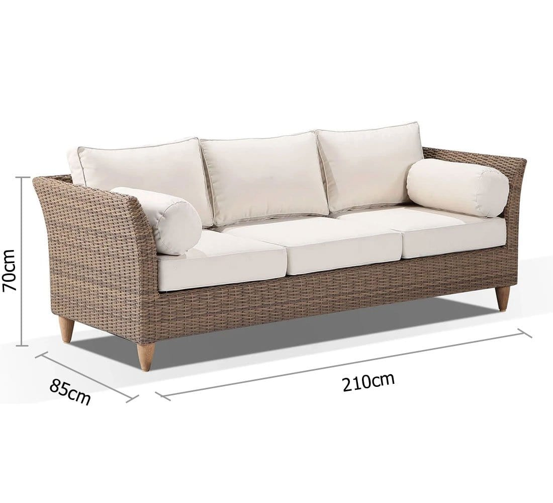 Carolina 3 Seater Outdoor Lounge - Outdoor Furniture Clearance Outlet Penrith