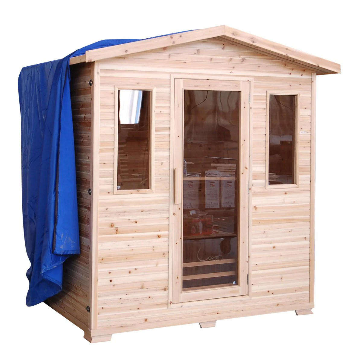 Sauna Outdoor Buy A Sunray Cayenne 4-person Outdoor Sauna - Free Shipping!