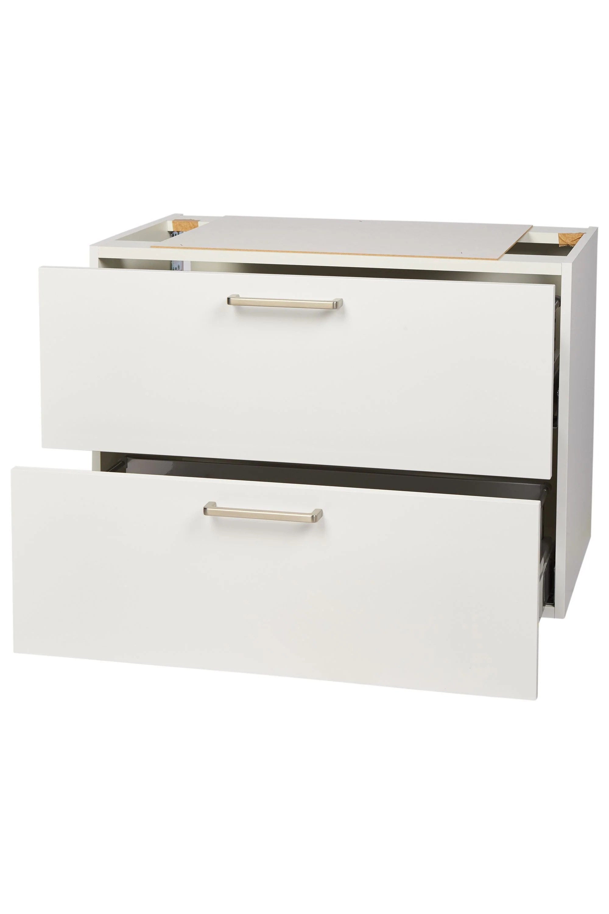 Nobilia Vanity Unit Bathroom Vanity Unit 2 Drawers 60cm 80cm White Top Shelf De