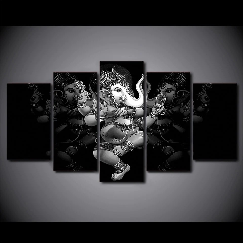 Black And White Canvas Pictures God Ganesha Canvas Black White