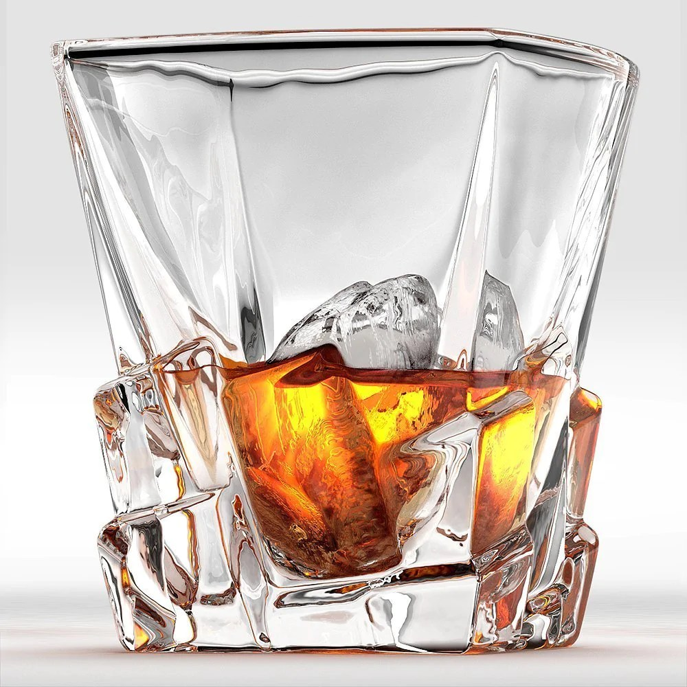 Wisky Glas Crystal Whiskey Rocks Glass 300ml Old Fashioned Glass Cocktail Scotch Bourbon Tumbler
