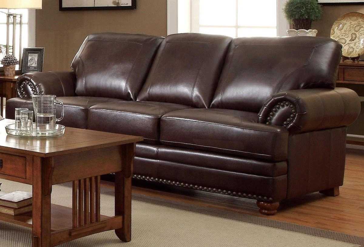 Brown Sofa And Loveseat Sets Coaster Colton 504411 Brown Traditional Sofa And Loveseat Set