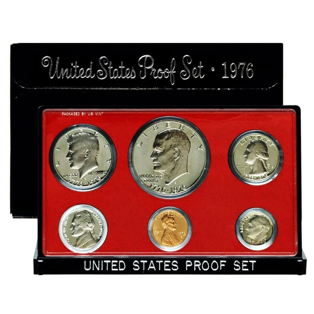 Mint Set 1976 Proof Set 6 Coin Set