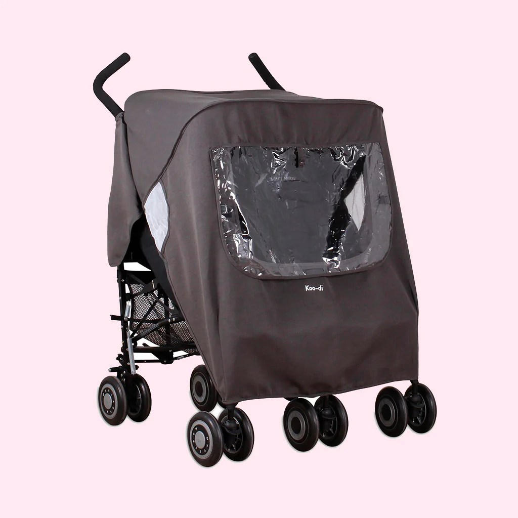 Double Stroller Rain Cover Pack It Keep Us Dry Double Stroller Rain Cover Grey