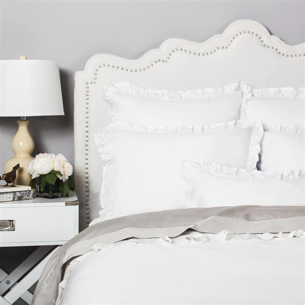 Soft Duvet Covers Ruffle Bedding The Vienna Soft White Crane Canopy