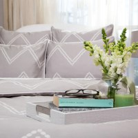 Gray Chevron Bedding | The Cora Gray | Crane & Canopy