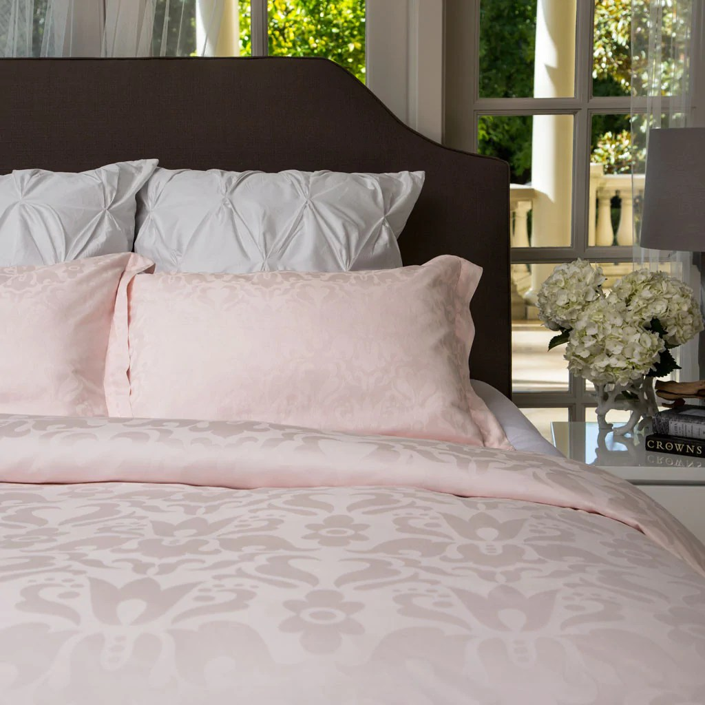 Blush Pink Quilt Cover The Montgomery Blush Pink