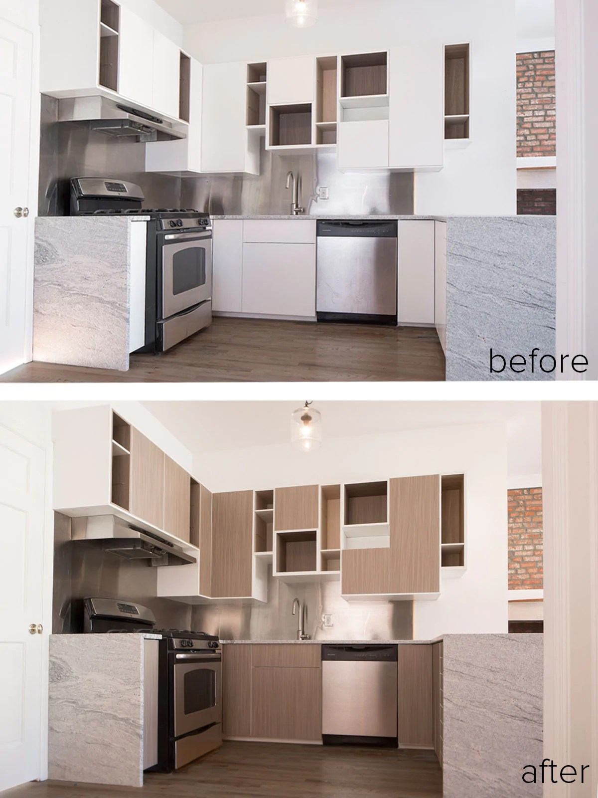 Kitchen Cabinet Door Fronts Only Before, During, After: Panyling An Ikea Sektion Kitchen