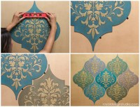 How to Stencil Moroccan Dreams Wall Art Wood Shapes Wall ...