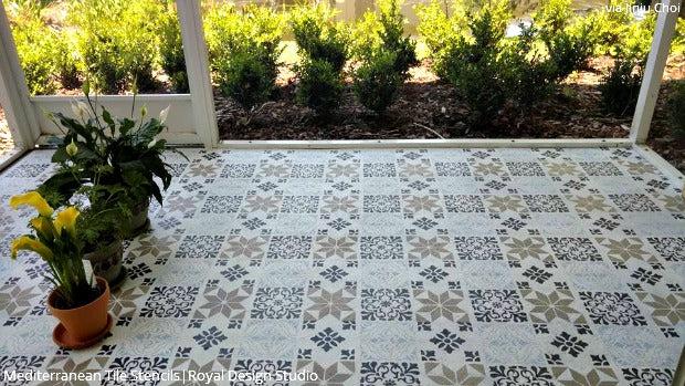 Diy Decorating Ideas For Stenciling A Porch Or Patio Floor