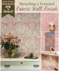 How to Stencil Tutorial: Stenciling a Textured Fabric Wall