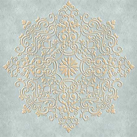 3d Geometric Shapes Wallpaper White Ceiling Stencils Avignon Ceiling Medallion Stencil