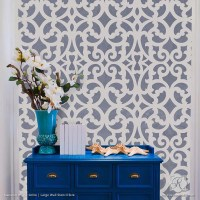 Large Exotic Trellis Wall Stencils for DIY Painting ...