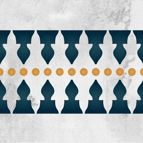 African Animal Wallpaper Border Moroccan Stencil Minaret Border Stencil Royal Design