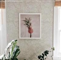 Romantic Floral Damask Stencil - Flower Pattern By Bonnie ...