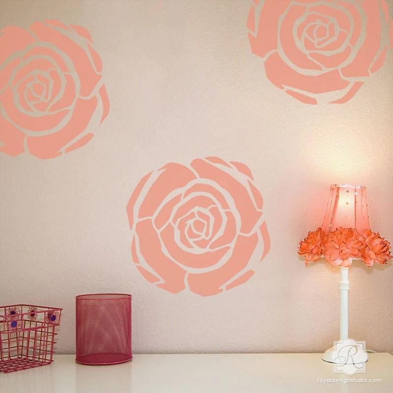 Wallpaper Border For Girl Nursery Flower Stencils Art Deco Flower Furniture Amp Wall Art