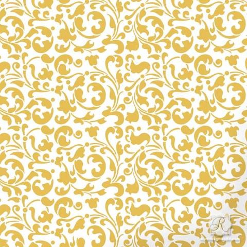 African Animal Wallpaper Border Sultan Swirl Craft Stencil Royal Design Studio