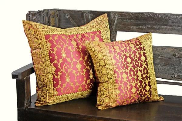 Decorative Indian Sari Pillow Cover Bedding Sofatara