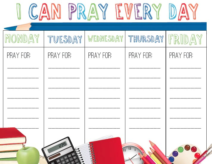 Christian Table Calendar The Christian Calendar Easter Calendars Back To School Prayer Calendar – Childrens Ministry Deals