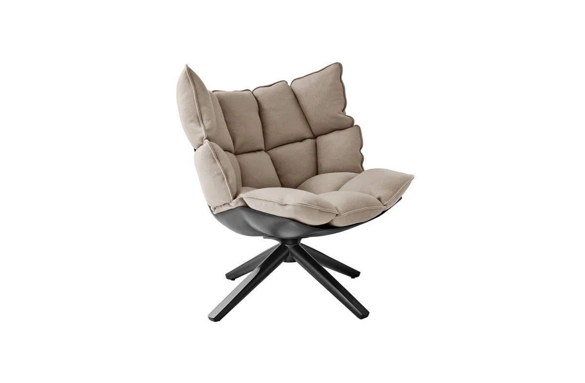Husk Swivel Armchair With Snug Sides By Patricia Urquiola For B B Italia Space Furniture