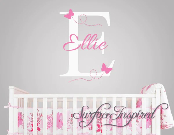 monogram wall decals for nursery