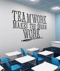 Vinyl Wall Decal Sticker Teamwork Dream Work #5453 ...