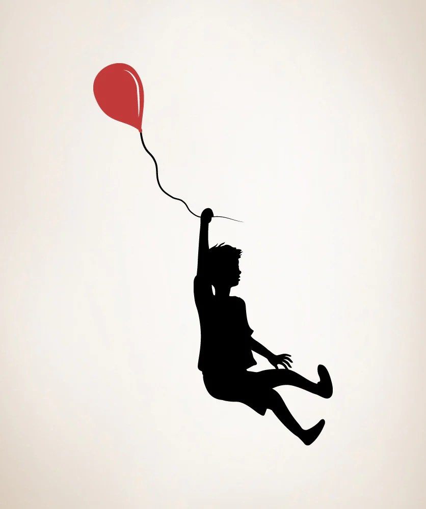 Boy Bedroom Designs Vinyl Wall Decal Sticker Boy With Balloon #os_mb347