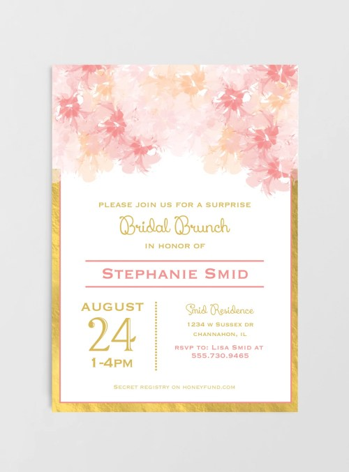 Medium Of Bridal Shower Invitations