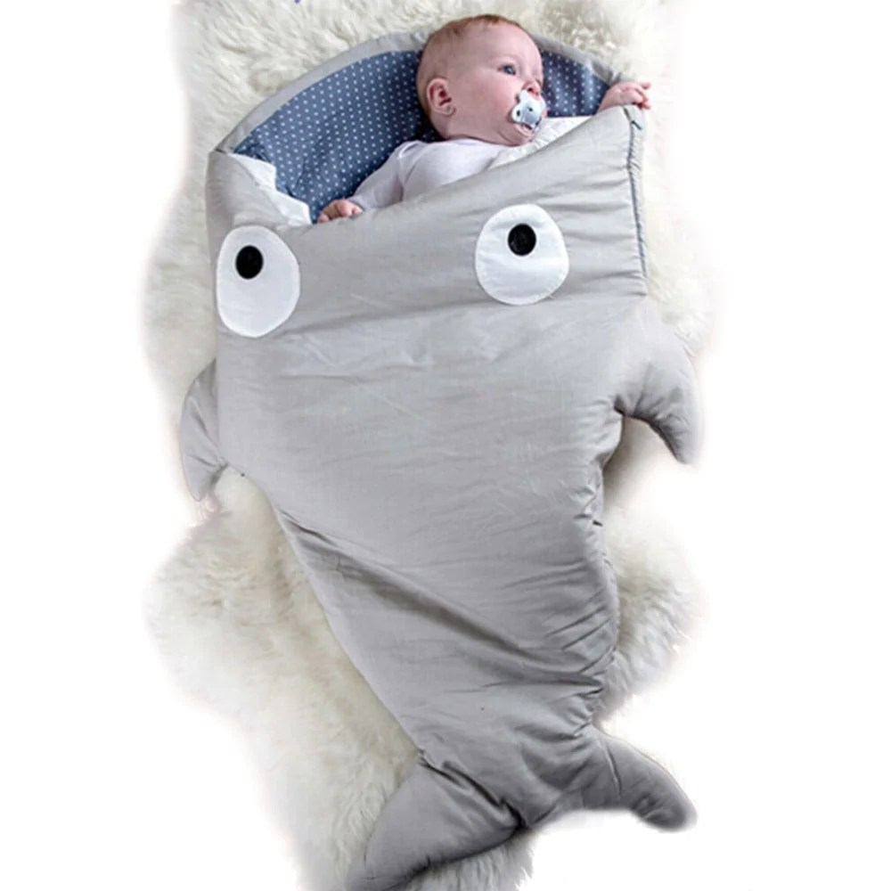 Cotton Baby Sleeping Bag Warm Baby Sleeping Bag Soft Cotton Thick Blanket Winter Sweet Cartoon Shark Babies Newborn Infant Kids Sleeping Bags 7 Colors
