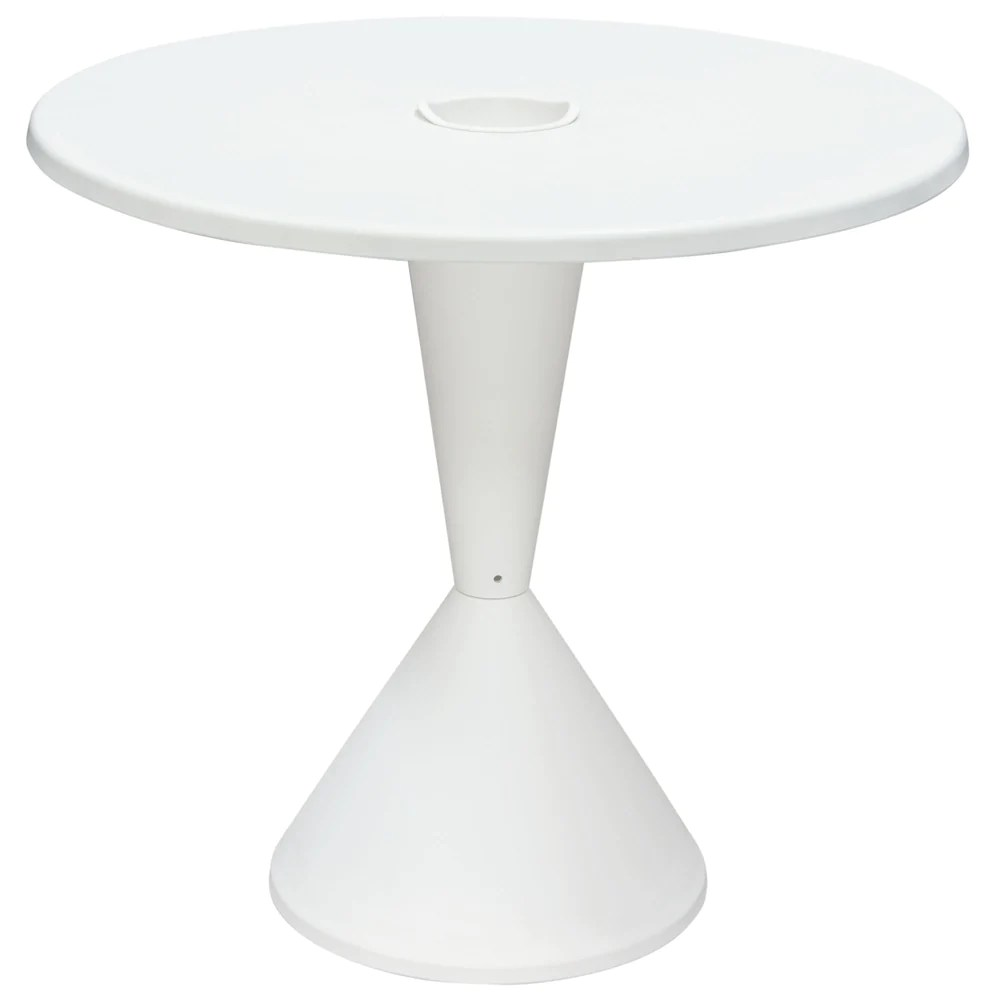 Table Polypropylène Expo Indoor Outdoor 31 Inch Round Bistro Table In White Polypropylene