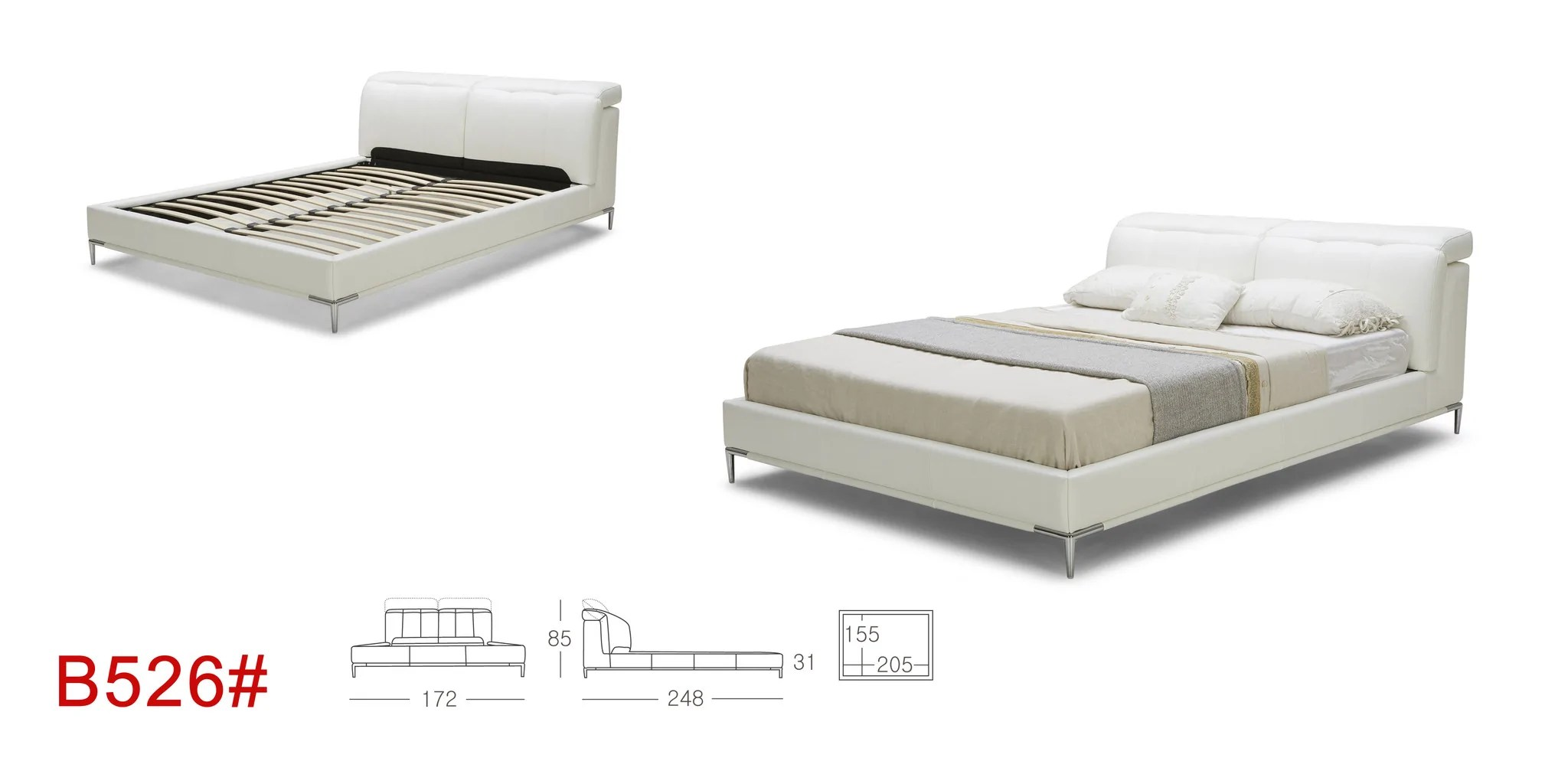 Is A Platform Bed Comfortable Euro Ktouch B526 Modern Upholstered Platform Bed With Adjustable Headrests