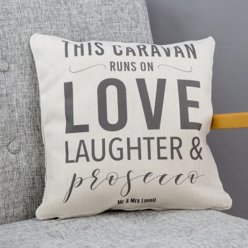 Personalised New Home Gifts New Home Gift This Home Runs On Cushion Personalised To Any Family Favourites For Mum Or Wife