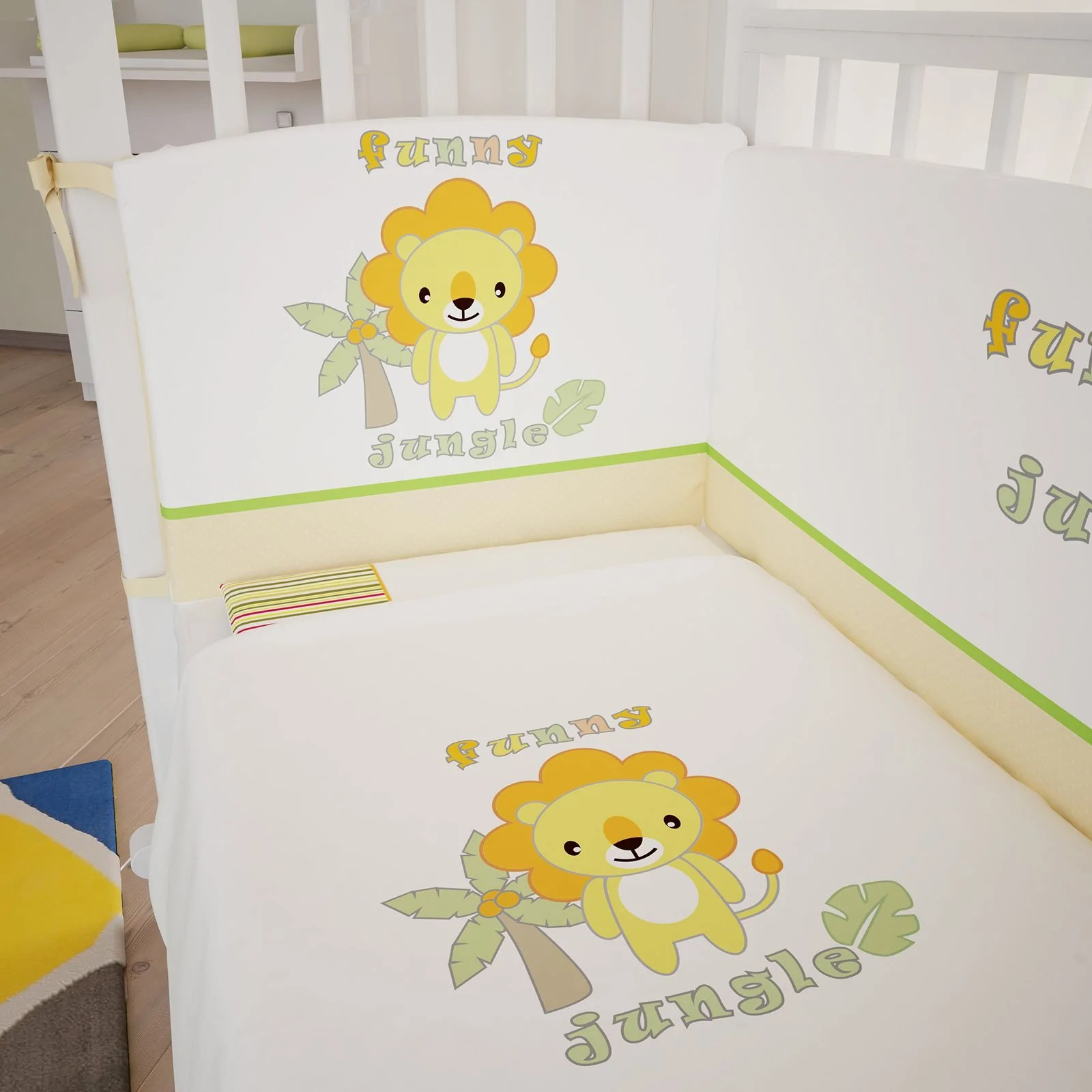 Bettwäsche Komplett Set 101123408 Polini Kids Baby Bettwäsche Set 140x70 Funny Jungle 3