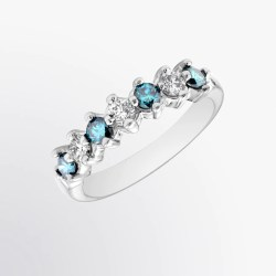 Small Of Blue Diamond Ring