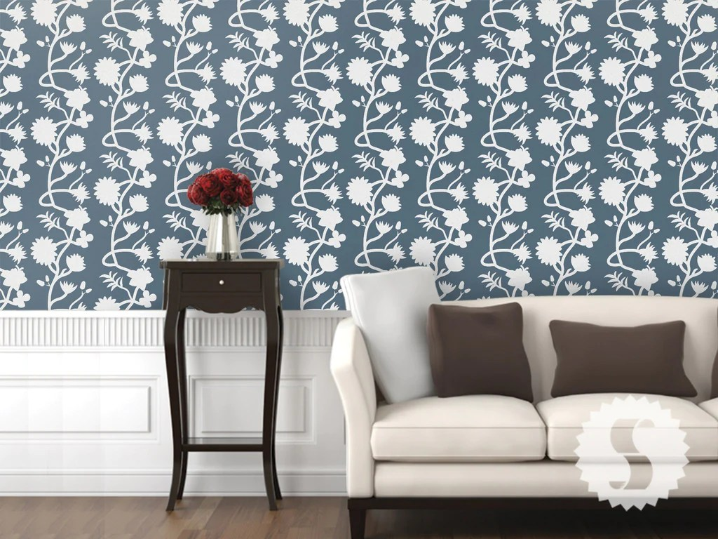 Wallpaper temporary removable wallpaper flower wall floral