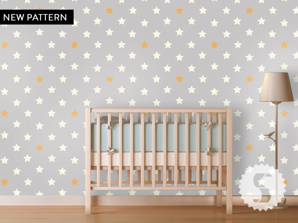Baby Girl Nursery Removable Wallpaper Wallpaper Temporary Removable Wallpaper Stars Nursery Baby