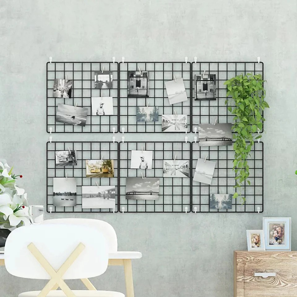 Wall Grid Metal Wire Square Wall Grid