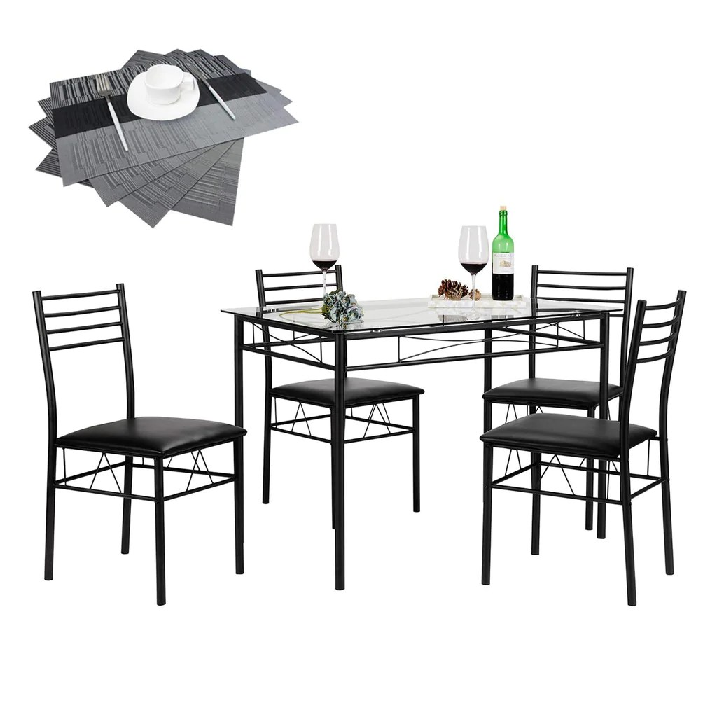 Glass Dining Table And Chairs Dining Table With 4 Chairs