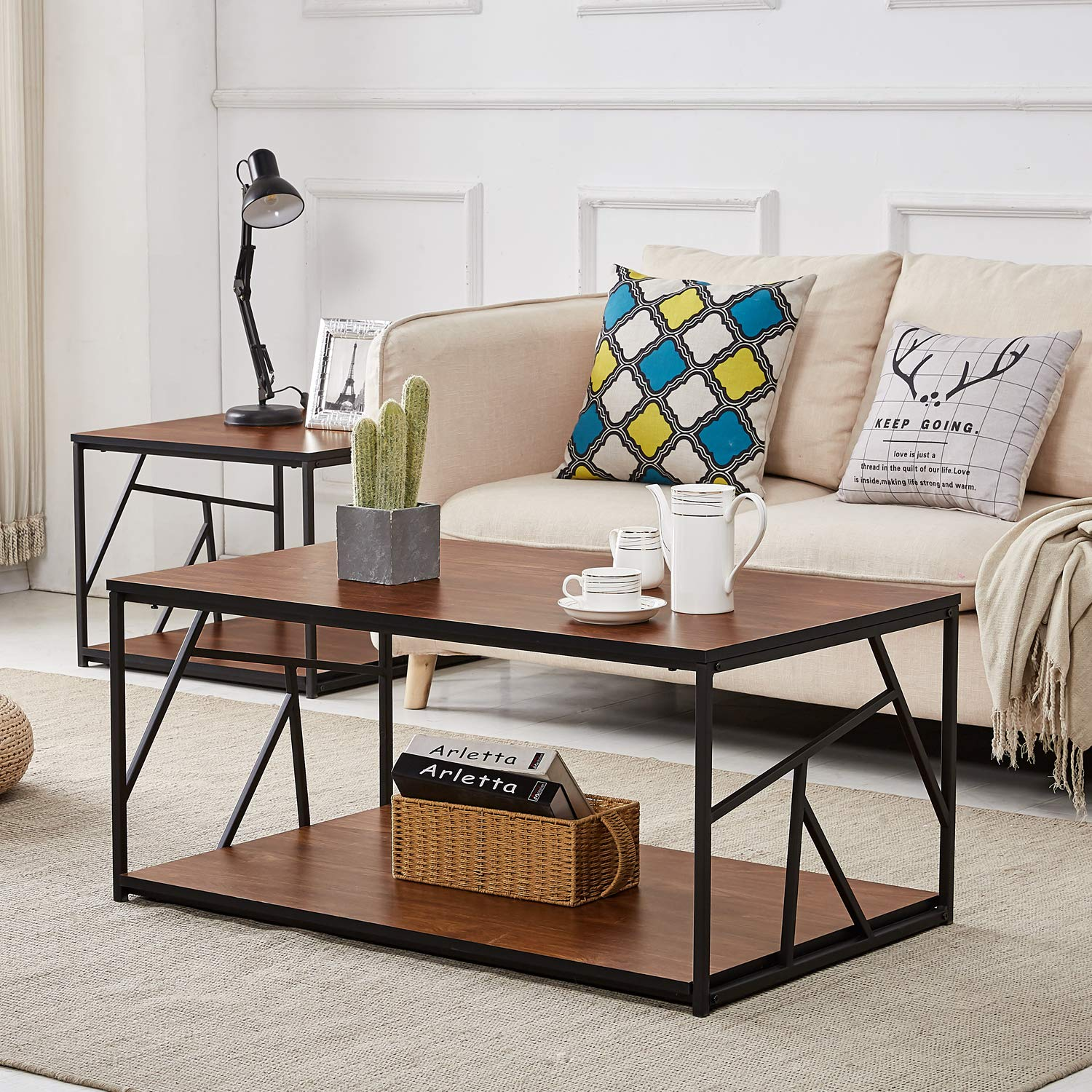 Modern Coffee Table With Storage Modern Coffee Tea Table Wooden Side Table With Storage Black Metal