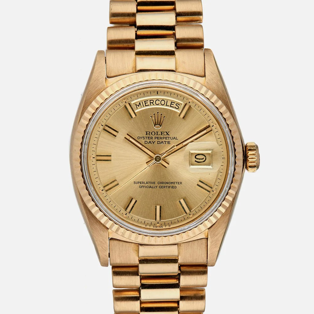 Rolex Daydate 1970s Rolex Day Date Reference 1803 In Yellow Gold