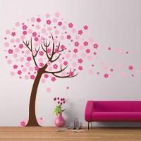 Children's Tree with blossom Vinyl Wall Sticker   Vinyl ...