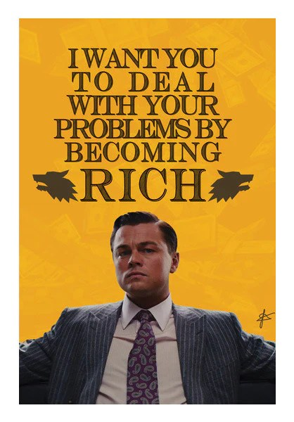 Wolf Of Wall Street Quote Iphone Wallpaper Wolf Of Wall Street Jordan Belfort Quote Wall Art