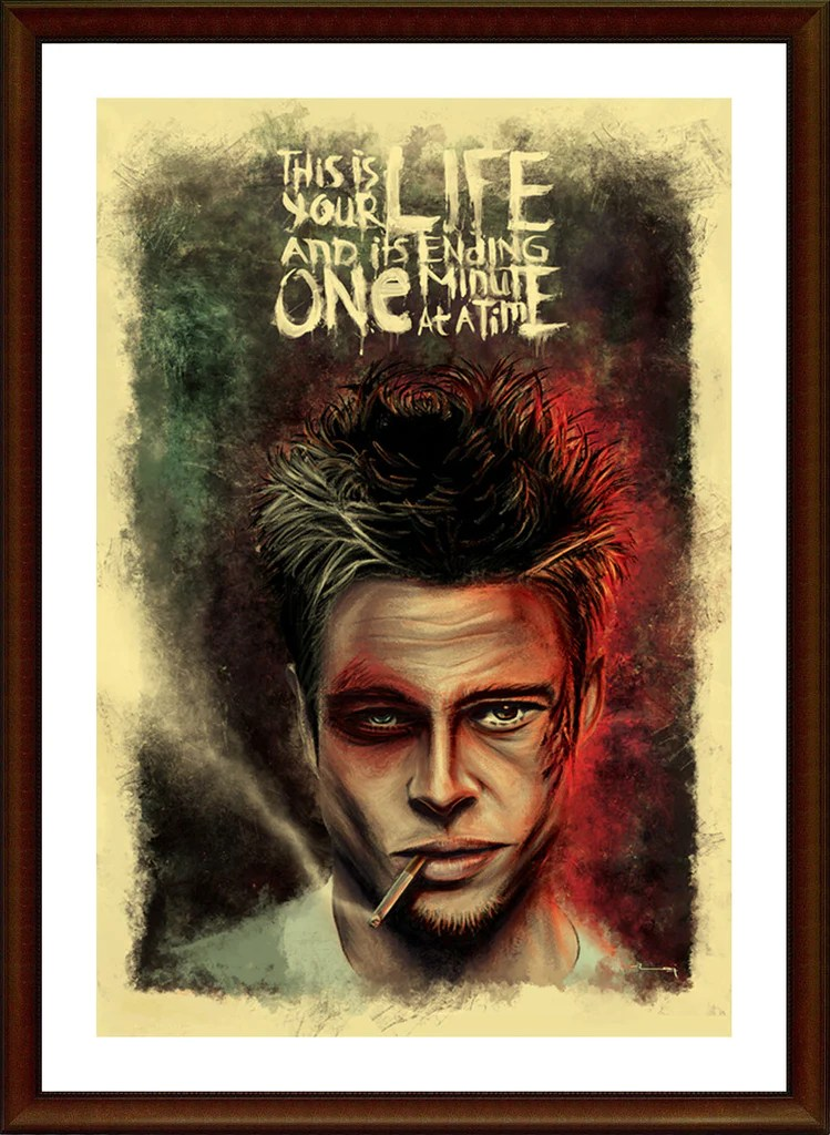 Quotes Wallpaper For Iphone 5c Art And Wall Decor Online Fight Club Brad Pitt Artwork