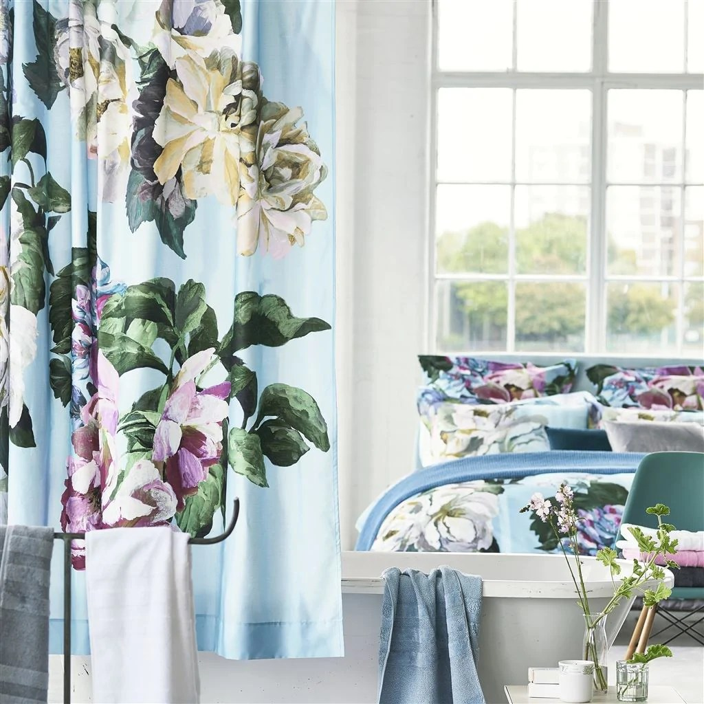Buy Shower Curtains Online Buy Delft Flower Sky Shower Curtain Design By Designers Guild