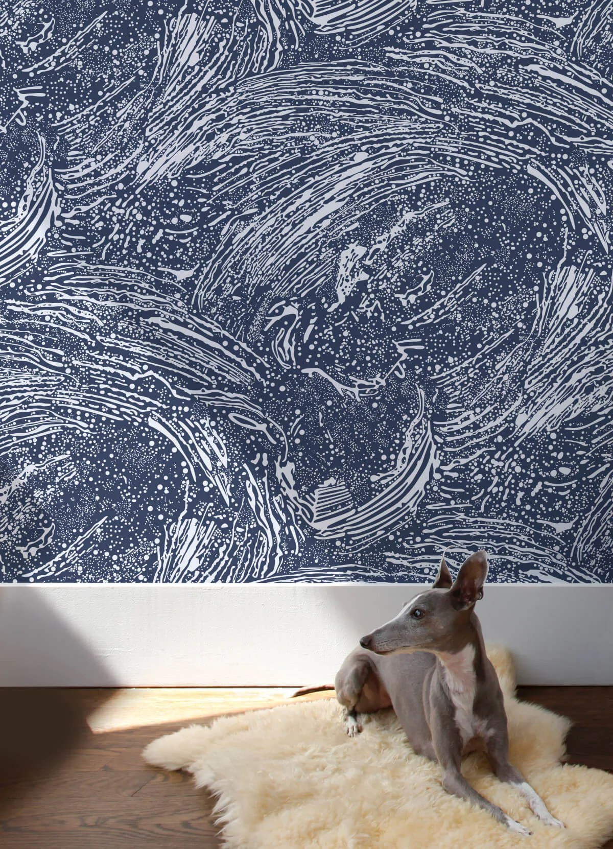 Cosmic Splash Wallpaper in Lazurite design by Aimee Wilder