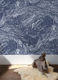 Cosmic Splash Wallpaper in Lazurite design by Aimee Wilder