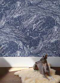 Cosmic Splash Wallpaper in Lazurite design by Aimee Wilder ...