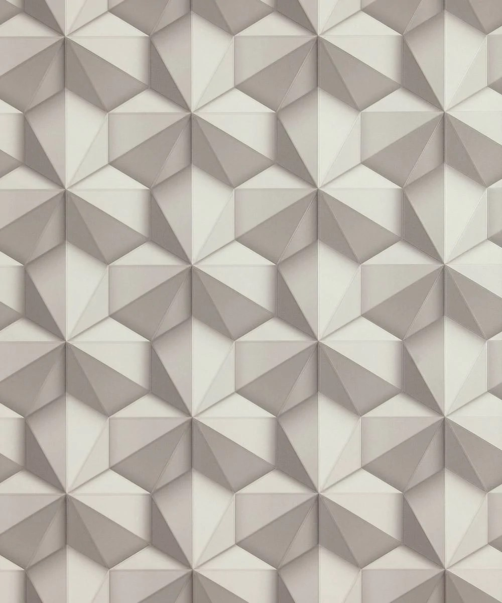 Geo Modern Wallpaper In Grey And White From The Loft Collection By Bur Burke Decor