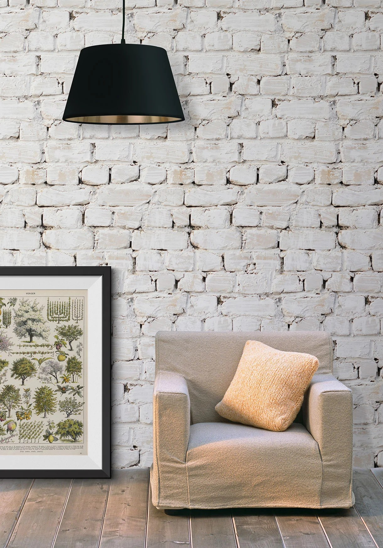 Cheap 3d Brick Wallpaper Whitewash Bricks Boutique Faux Wallpaper Design By Milton